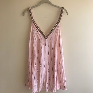 Intimately Free People Pink Sequin and Bead Dress